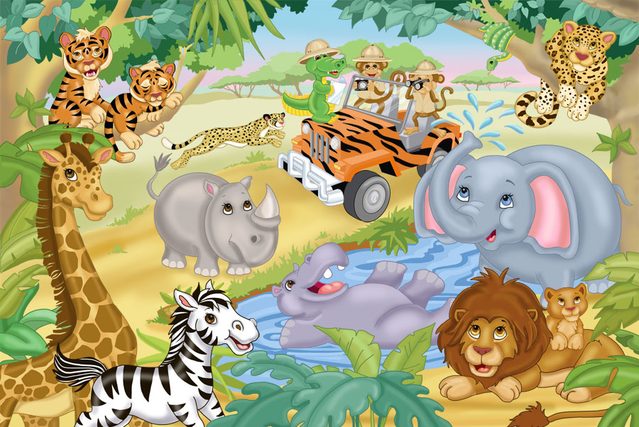 Safari Adventure Wall Mural