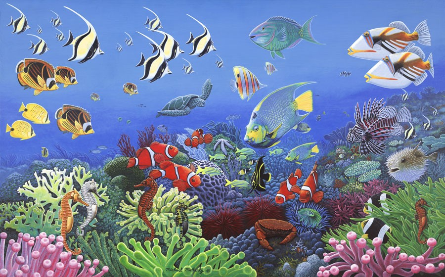 Wonders Of The Sea Wall Mural