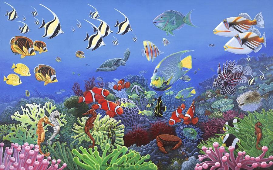 Wonders Of The Sea Wall Mural