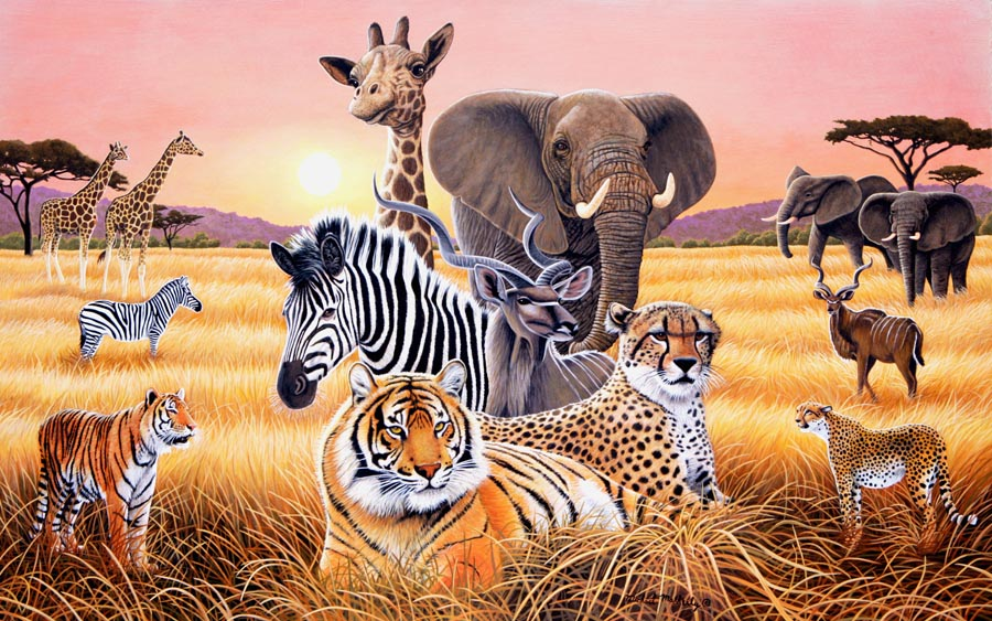 Safari 2 Wall Mural