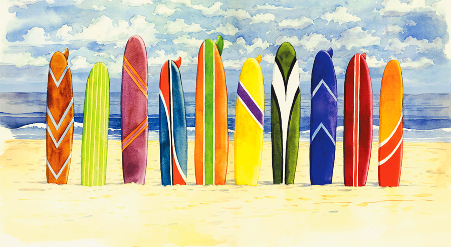 Surf Wall Decals - TKTB